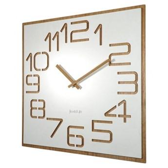Biały zegar ścienny DIGITS 60cm