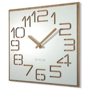 Biały zegar ścienny DIGITS 40cm