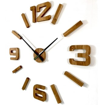 Drewniany zegar ścienny dębowy EKO 130cm