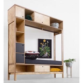 PILLAR.2 siedzisko, szafka, wieszak ze sklejki w skandynawskim stylu