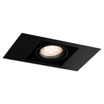 Spot LAMPA sufitowa EBINO 3305 Shilo podtynkowa OPRAWA metalowe OCZKO prostokątna wpust czarny