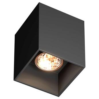 Downlight LAMPA sufitowa SQUARE 50475-BK Zumaline metalowa OPRAWA kostka spot czarna