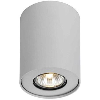 Sufitowa LAMPA downlight NOMA CL-110GU10-WH Italux okrągła OPRAWA metalowa tuba natynkowy spot biały