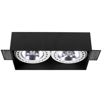 Wpuszczana LAMPA sufitowa MOD PLUS 9403 Nowodvorski metalowa OPRAWA prostokątny WPUST do zabudowy czarny