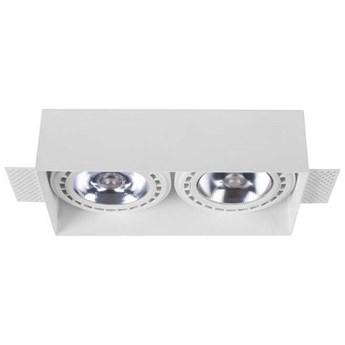 Sufitowa LAMPA podtynkowa MOD PLUS 9407 Nowodvorski prostokątna OPRAWA wpuszczana metalowa biała