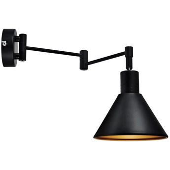 Industrialna LAMPA ścienna COPENHAGEN 21-75444 Candellux metalowa OPRAWA regulowany KINKIET na wysięgniku czarny złoty