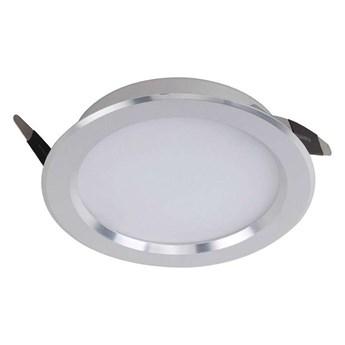 Oczko LAMPA sufitowa BELLA FH-TH0030 AL Italux podtynkowa OPRAWA okrągła LED 6W 2700K metalowy WPUST srebrny