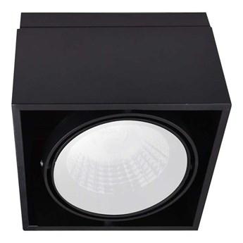 Spot LAMPA sufitowa BLOCCO ML477 Milagro metalowa OPRAWA natynkowa LED 7W 3000K oczko regulowane kostka cube czarna