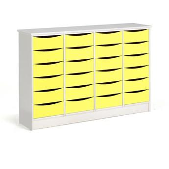 Komoda Björkavi, 24 szuflady, żółty