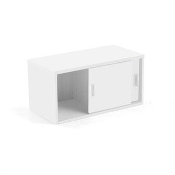Szafka MODULUS z drzwiami przesuwnymi, 400x800 mm, biały