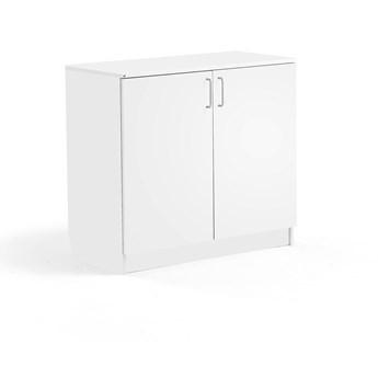 Niska szafa THEO, 1 półka, 6 szuflad, biały