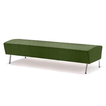 Siedzisko proste ALEX, 1800 mm, tkanina Medley, zieleń mchu