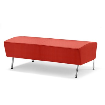 Siedzisko proste ALEX, 1200 mm, tkanina Repetto, pomarańczowy
