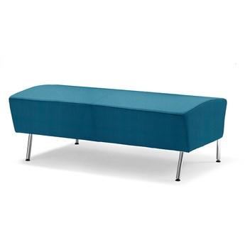 Siedzisko proste ALEX, 1200 mm, tkanina Repetto, błękit aqua