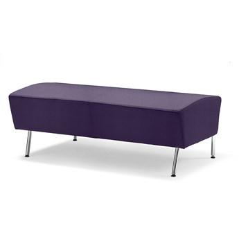 Siedzisko proste ALEX, 1200 mm, tkanina Repetto, niebieskofioletowy