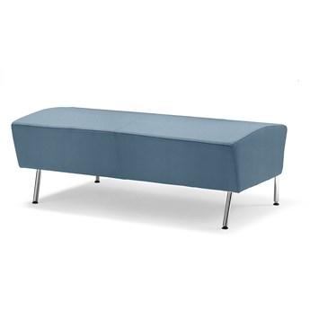 Siedzisko proste ALEX, 1200 mm, tkanina Repetto, szaroniebieski