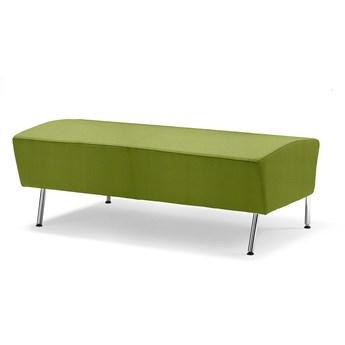 Siedzisko proste ALEX, 1200 mm, tkanina Repetto, zieleń alg