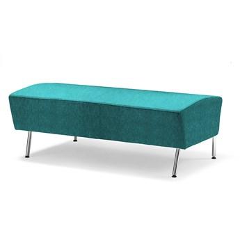Siedzisko proste ALEX, 1200 mm, tkanina Zone, turkusowy