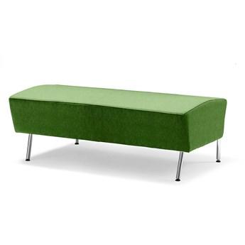 Siedzisko proste ALEX, 1200 mm, tkanina Zone, limonkowy