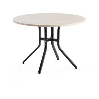 Stół VARIOUS, Ø1100x740 mm, czarny, brzoza