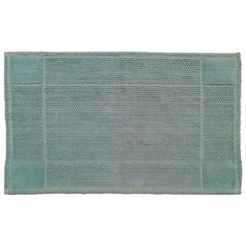 SELSEY Dywanik do łazienki Herbs 50x80 cm morski