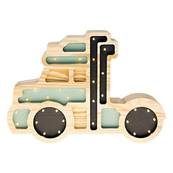SELSEY Lampa dziecięca Ciężarówka zielona