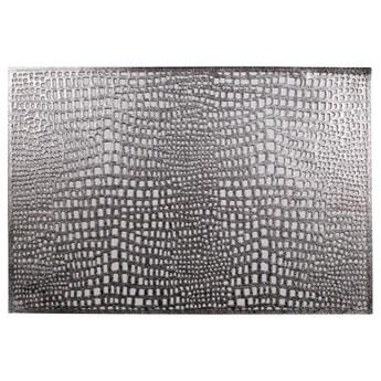 SELSEY Podkładka pod talerz Carnivor 45x30 cm srebrna