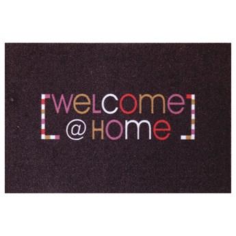 SELSEY Wycieraczka do butów Nooris z napisem Welcome Home 40x60 cm wielokolorowa