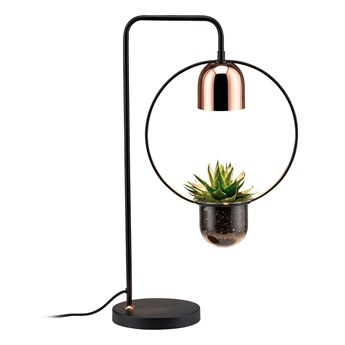 SELSEY Lampa stołowa Nibbler okrągła z doniczką