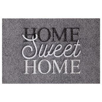 SELSEY Wycieraczka do butów Nooris z napisem Home Sweet Home 40x60 cm szara