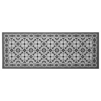 SELSEY Dywanik do kuchni Nooris z motywem mozaiki ciemnoszary