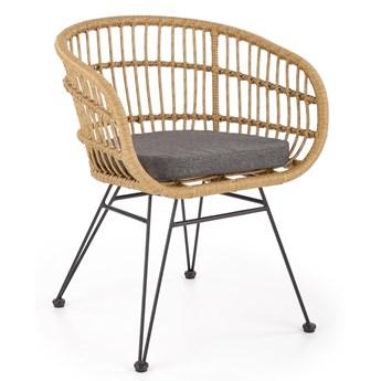 Krzesło z technorattanu do domu i ogrodu K456