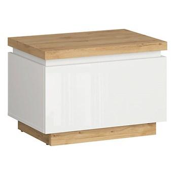 Praktyczna szafka nocna z szufladą do sypialni Erla 58x41x41