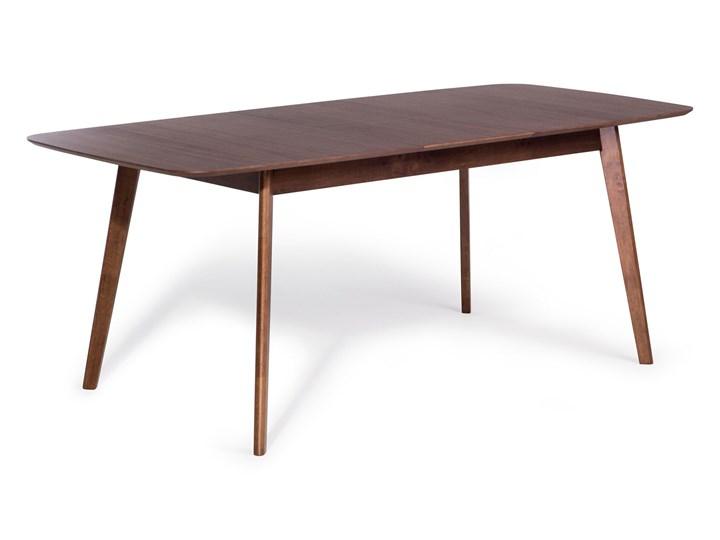 Beliani Stół do jadalni ciemne drewno rozkładany 190 - 150 x 90 cm prostokątny styl retro Płyta MDF Rozkładanie Rozkładane