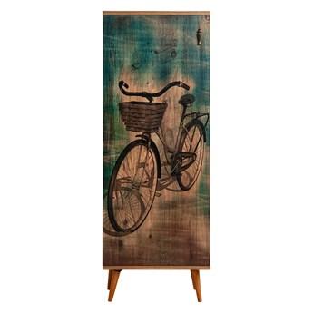 SELSEY Regał zamykany Jiesto rustykalny z motywem roweru