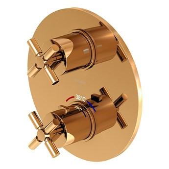 Bateria prysznicowa Steinberg Seria 250 4133 3, element zewnętrzny, termostat, Różowe złoto