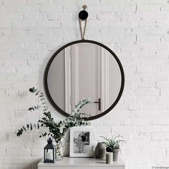 LOOP okrągłe lustro wiszące na jutowym sznurku, polski design