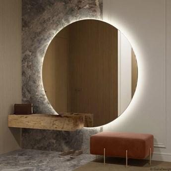 SUPER BIAŁE okrągłe lustro podświetlane LED