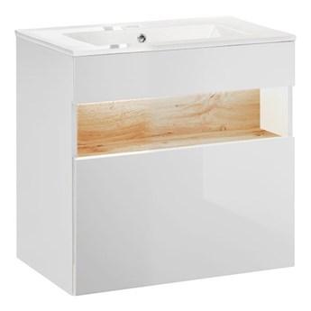 Szafka z umywalką Monako 4S 60 cm - Biały połysk