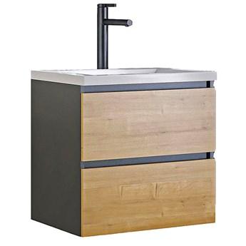 Wisząca szafka łazienkowa z umywalką - Moreno 2S 60 cm