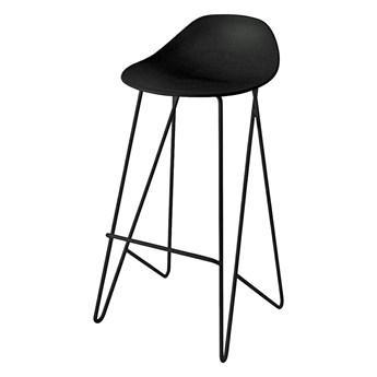 Czarny minimalistyczny hoker - Repos