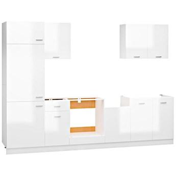 Komplet mebli kuchennych w kolorze biały połysk - Avros