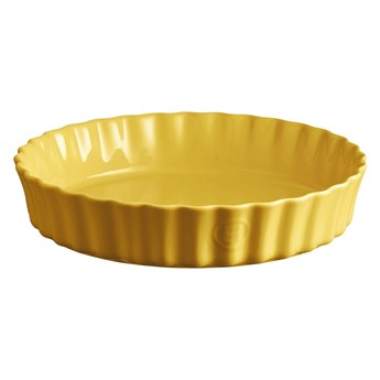 Żółta ceramiczna forma do ciasta Emile Henry, ⌀ 28 cm
