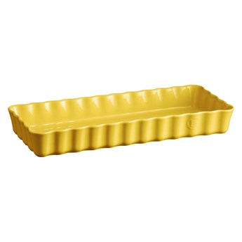 Żółta ceramiczna prostokątna forma do ciasta Emile Henry, 15x36 cm