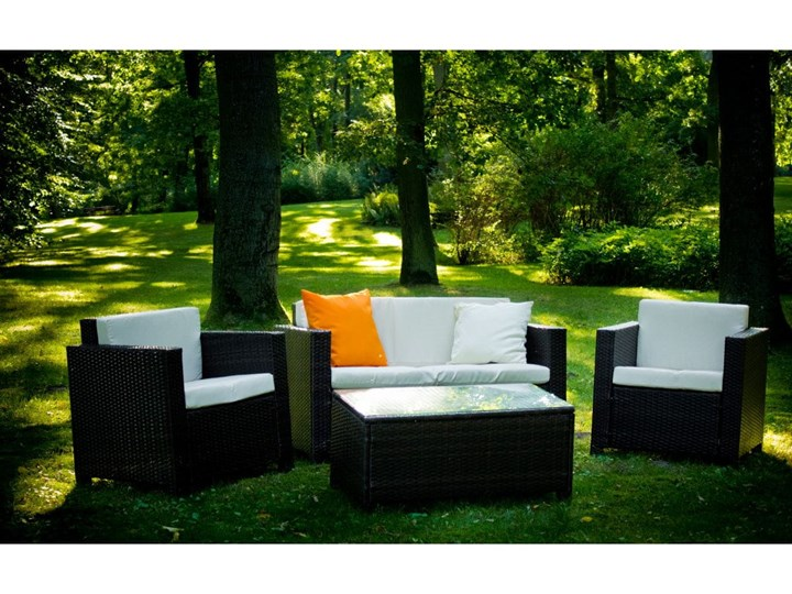 Zestaw ogrodowy CALMO brązowy technorattan Stal Kategoria Zestawy mebli ogrodowych Tworzywo sztuczne Zestawy wypoczynkowe Zawartość zestawu Stół