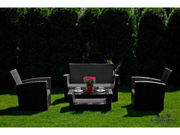 Meble ogrodowe z technorattanu UNICO Zawartość zestawu Fotele Zestawy wypoczynkowe Zawartość zestawu Stół