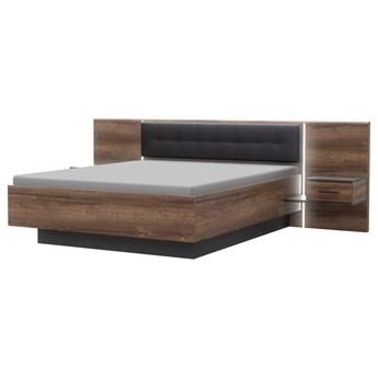 SELSEY Łóżko Bellevue 160x200 cm z szafkami nocnymi
