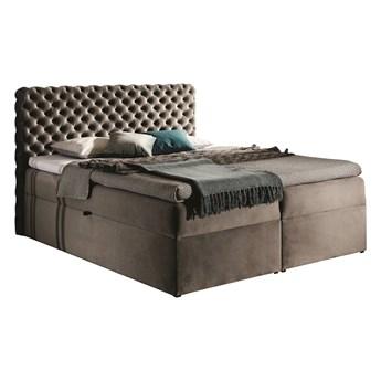 Kontynentalne łóżko tapicerowane z pojemnikami na pościel - CHESTER
