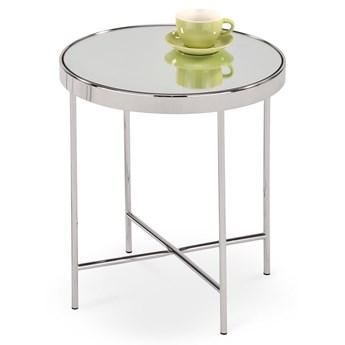 Srebrny stolik kawowy w stylu glamour Mira chrom