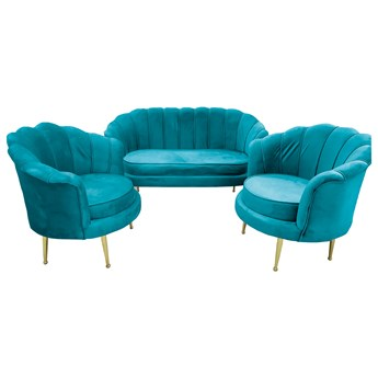 Sofa muszelka + 2 fotele ELIF #22 / morski
